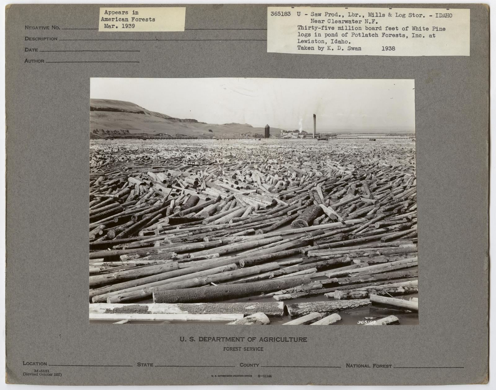 Mills, Milling and Log Storage - Idaho