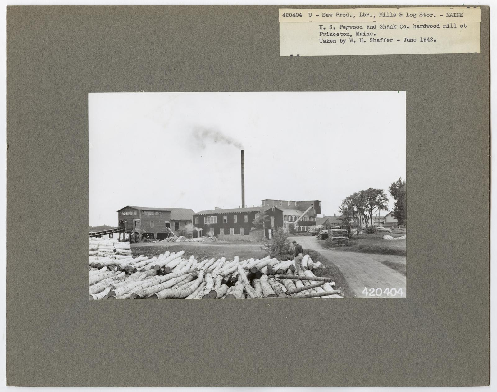 Mills, Milling and Log Storage - Maine