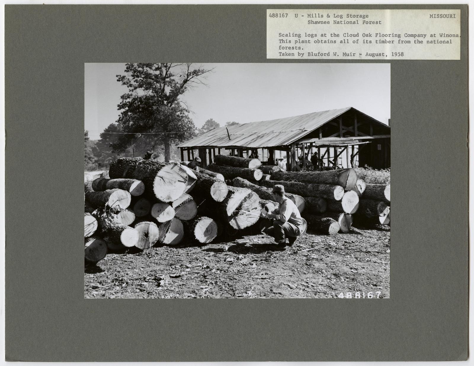 Mills, Milling and Log Storage - Missouri
