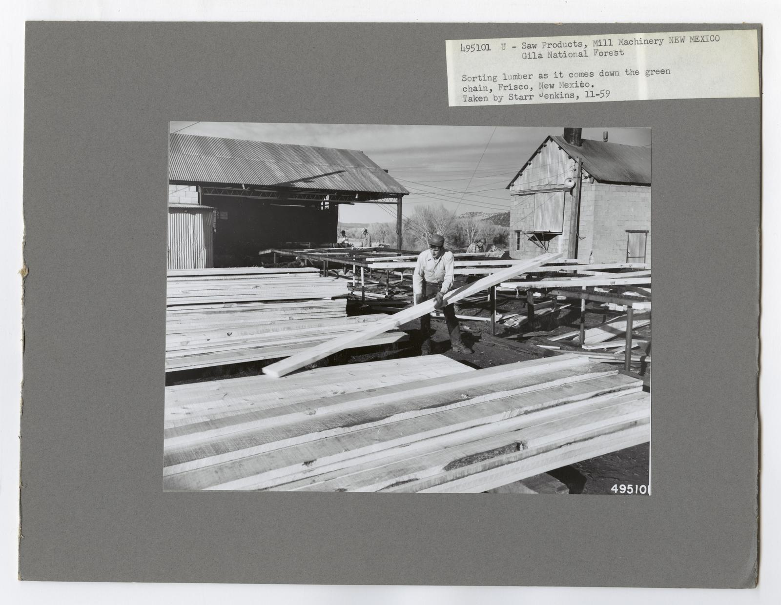 Mills, Milling and Log Storage - New Mexico