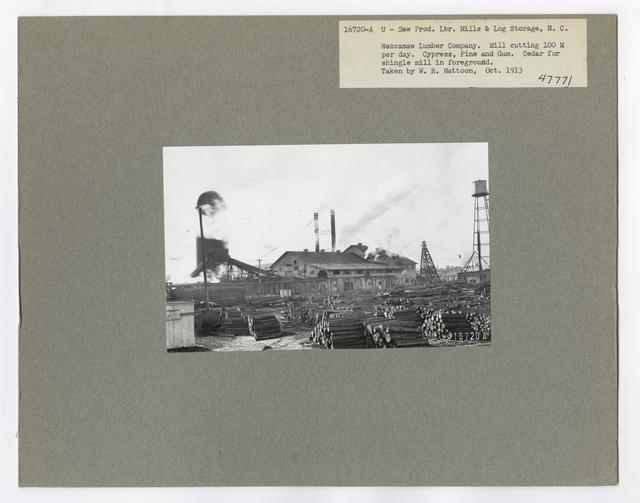 Mills, Milling and Log Storage - North Carolina