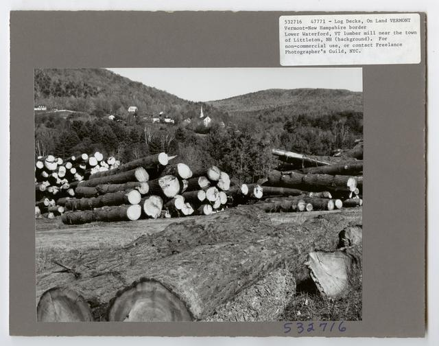 Mills, Milling and Log Storage - Vermont
