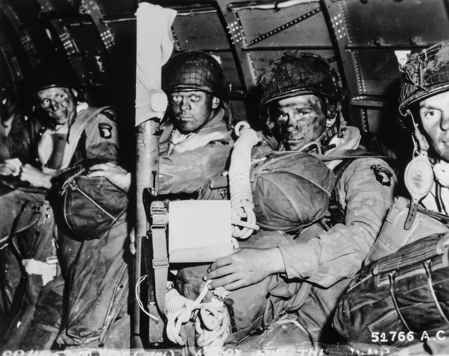 Photograph of Paratroopers just before They Took off for the Initial Assault of D-Day