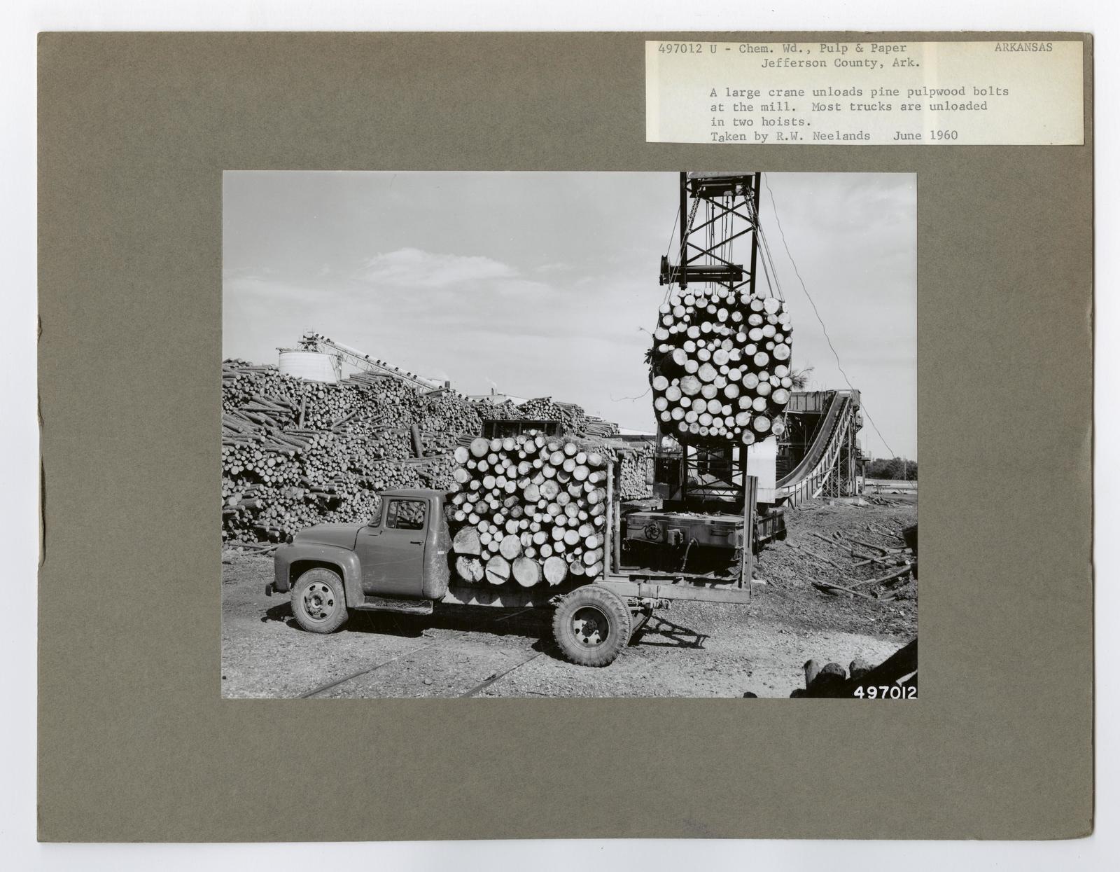 Pulp and Paper: Pulpwood Yards - Arkansas