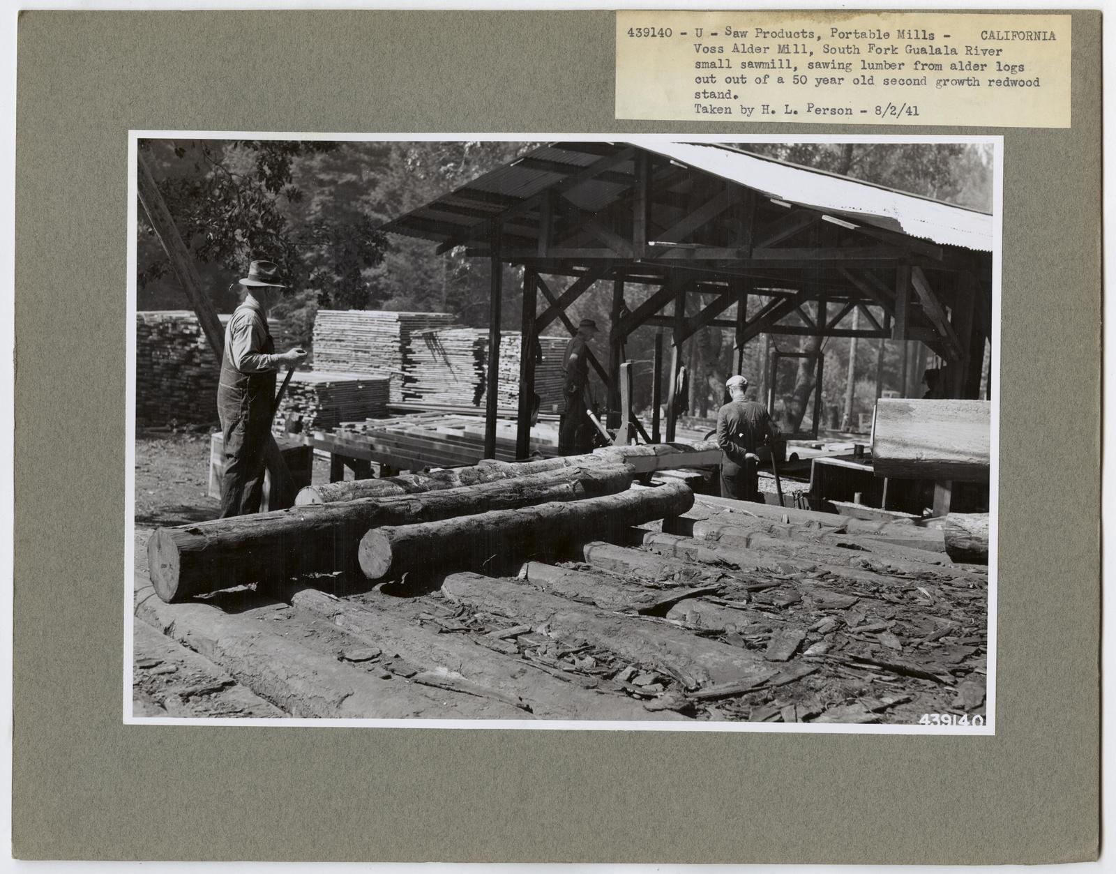 Small Sawmills - California