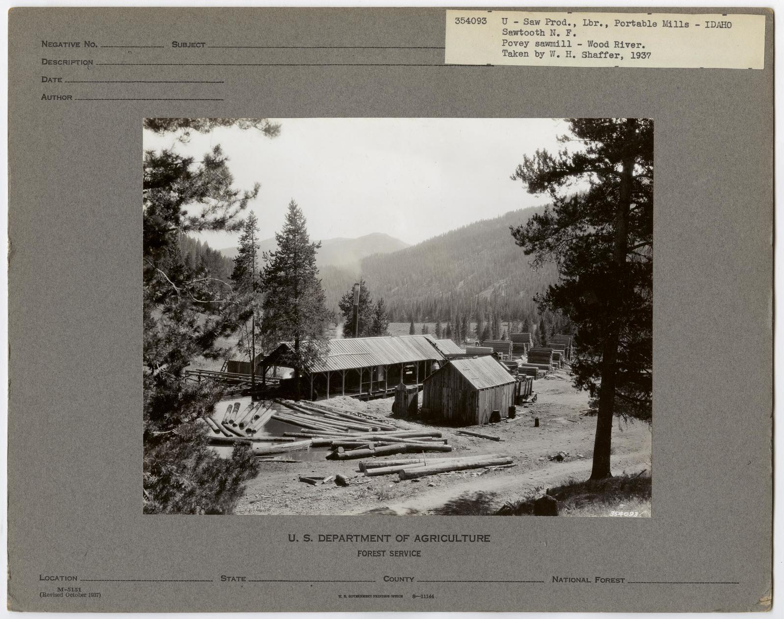 Small Sawmills (mold) - Idaho