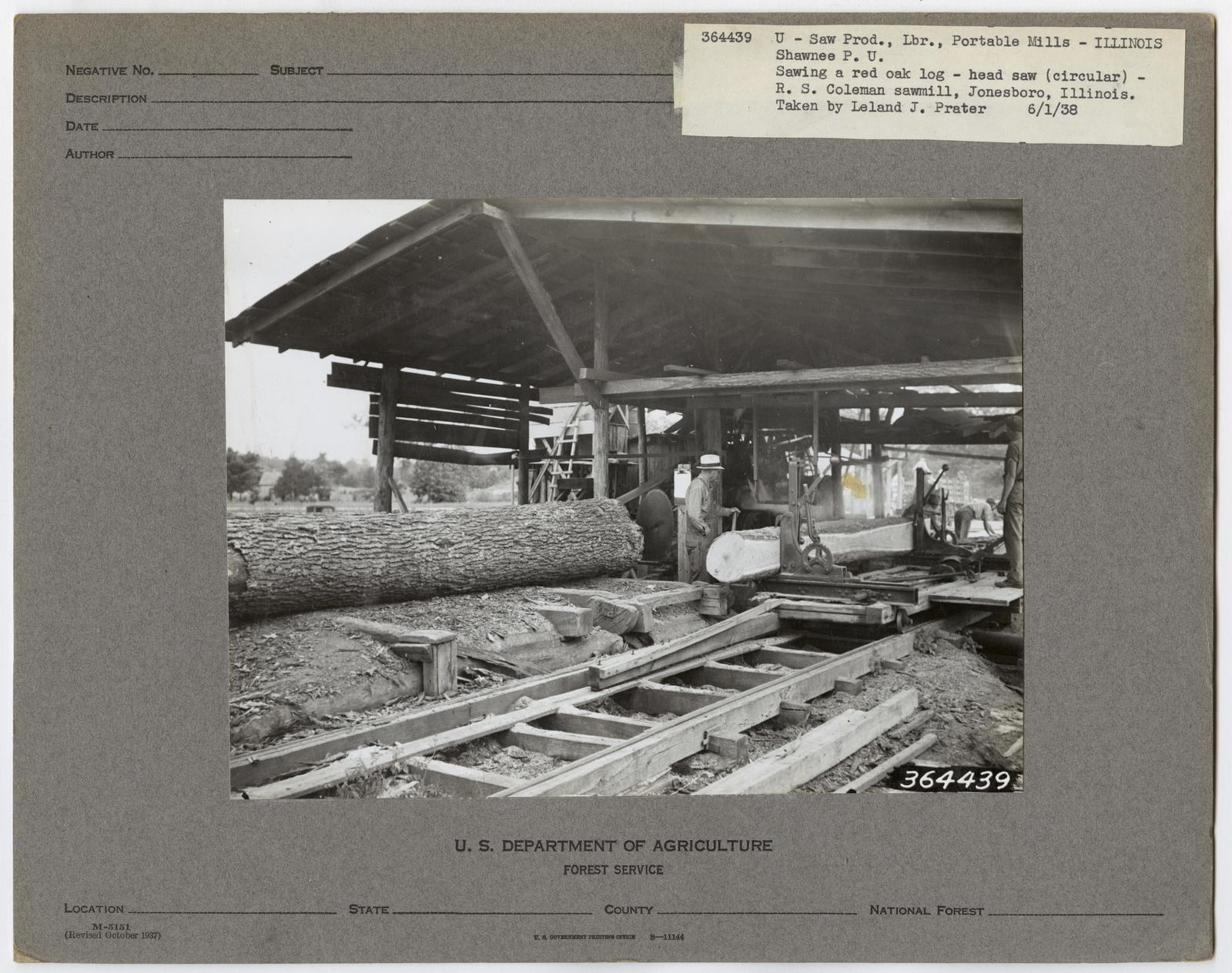 Small Sawmills (mold) - Illinois