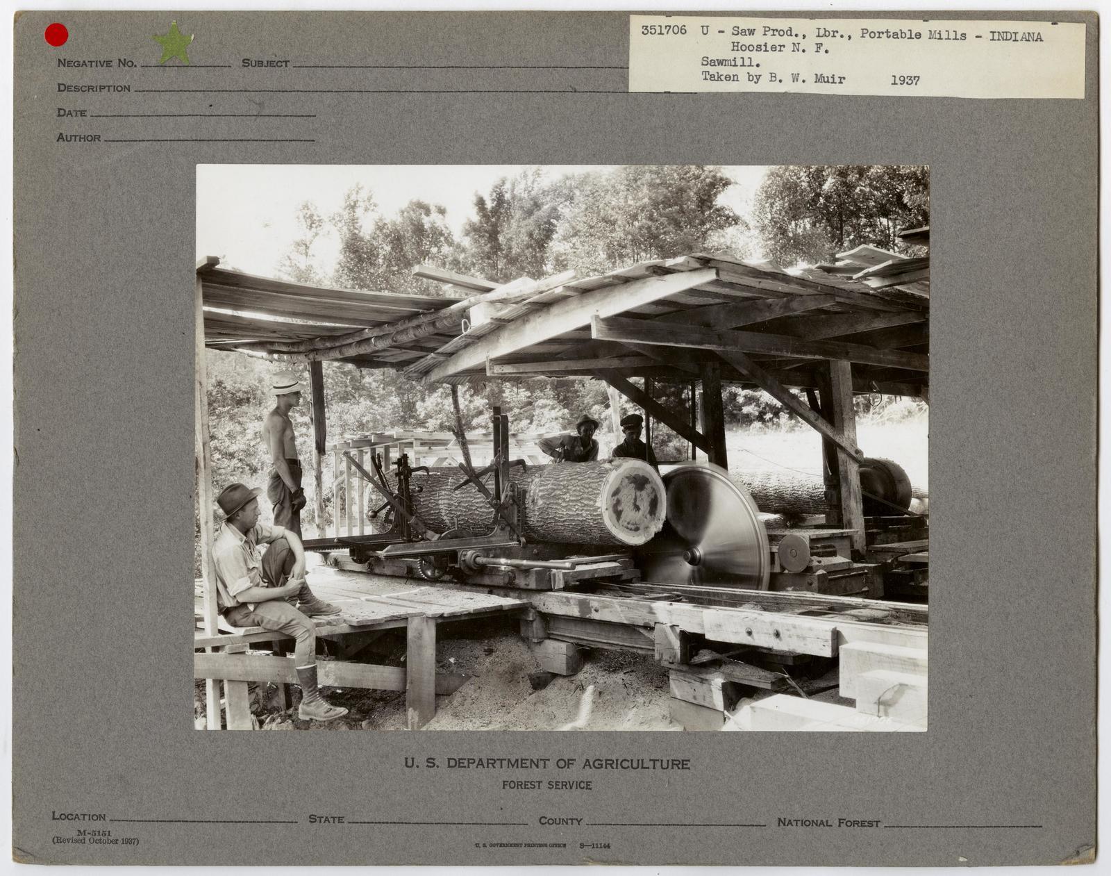 Small Sawmills (mold) - Indiana
