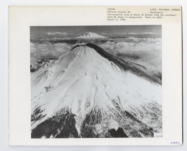 Volcanoes - Before Mount St. Helens Eruption - Washington