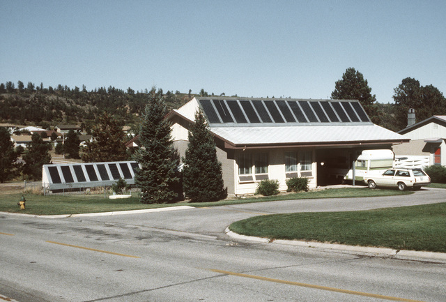 A view of a solar house