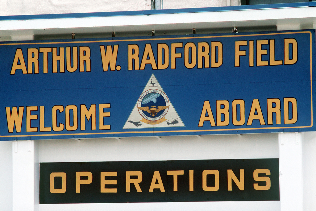 A view of the sign at Arthur W. Radford Field