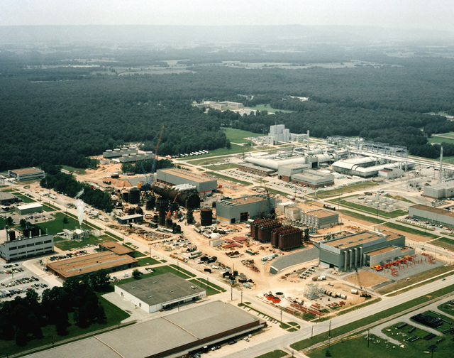 Aerial view of the Aeropropulsion System Test Facility (ASTF) in the Arnold Engineering Development Center. The ASTF, presently under construction, will provide a greatly expanded advanced jet engine test capability