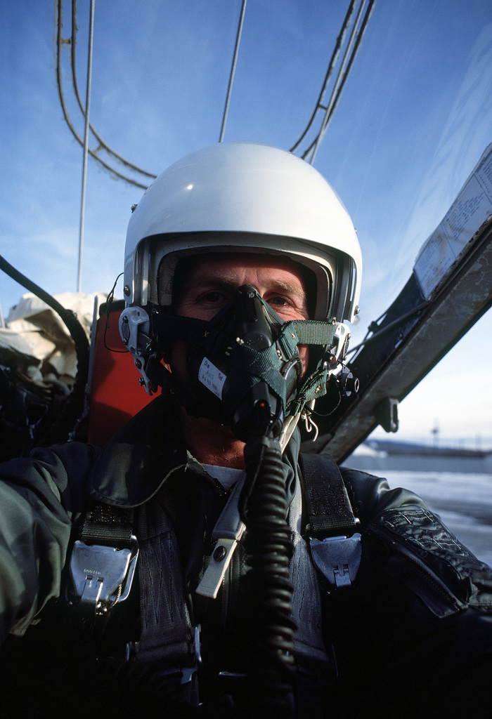 An Air Force pilot in an A-10A Thunderbolt II aircraft from the 353rd Tactical Fighter Squadron is on the flight line ready for takeoff during Brim Frost '81