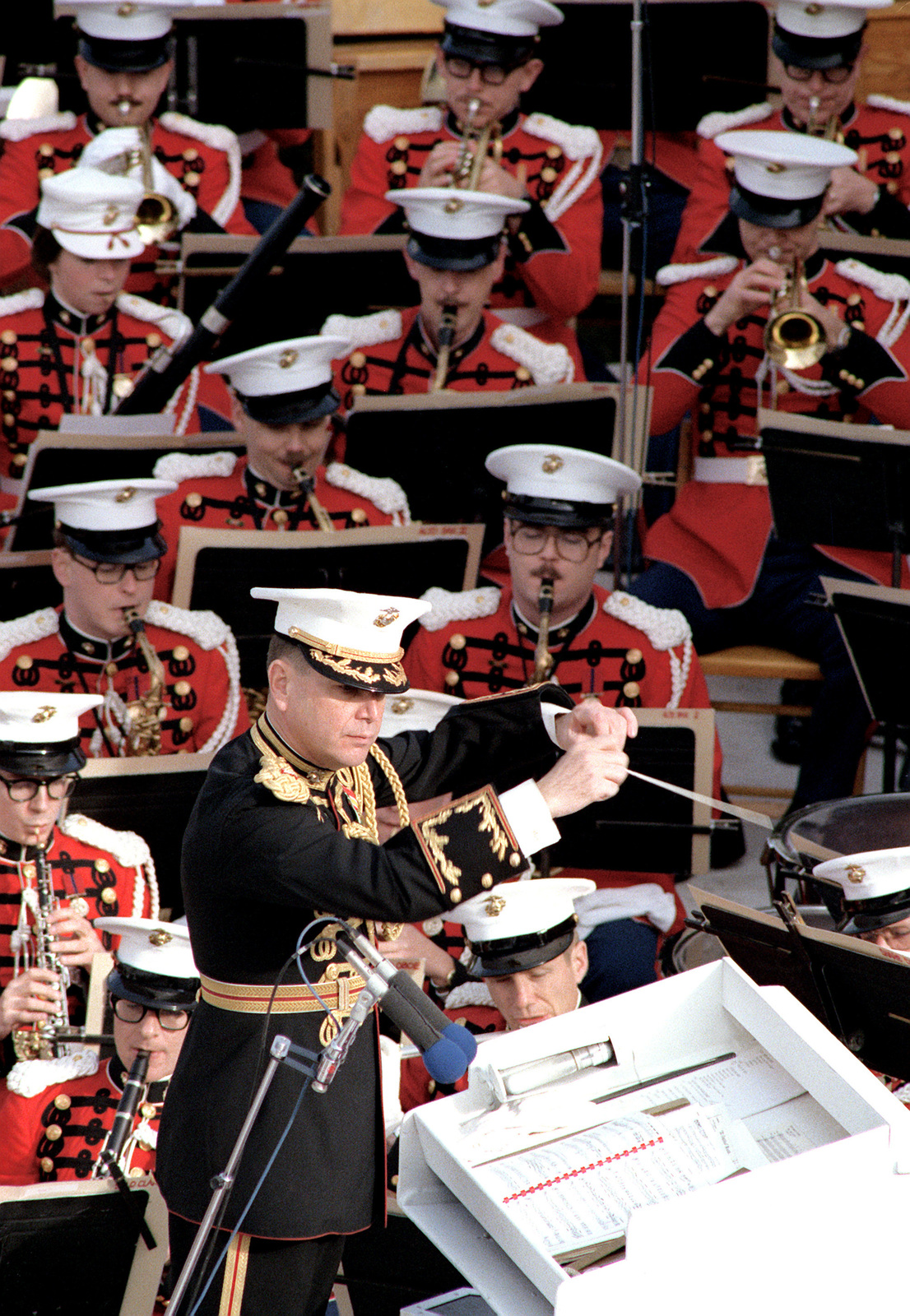 """The Marine Band, """"The President's Own, directed by LTC John Bourgeois, plays at the U.S. Capitol on Inauguration Day"""