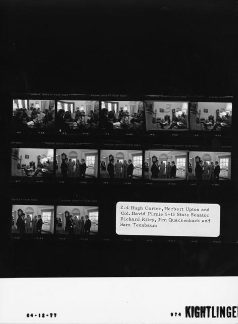 2-4 Hugh Carter, Herbert Upton and Col. David Pirnie; 5-13 State Senator Richard Riley, Jim Quackenback and Same Tennbaum
