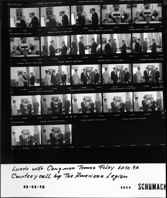 4-9 Lunch with Congressman Thomas Foley; Courtesy call by the American Legion