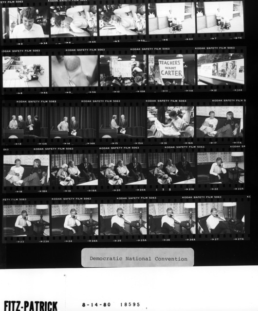 Billy Fitzpatrick (photographer); Fr. 3-5.  Jimmy Carter with Thomas (Tip) Oneil and John Glenn; Fr. 13-15.  Jimmy Carter with Willie Nelson; Fr. 17-18.  Jimmy Carter with Lillian Carter and Thomas Bradley; Fr. 19-22. Jimmy Carter on the telephone; Fr. 22-27.