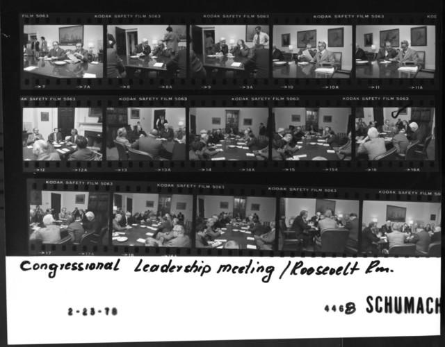 Congressional Leadership Meeting - Roosevelt Room