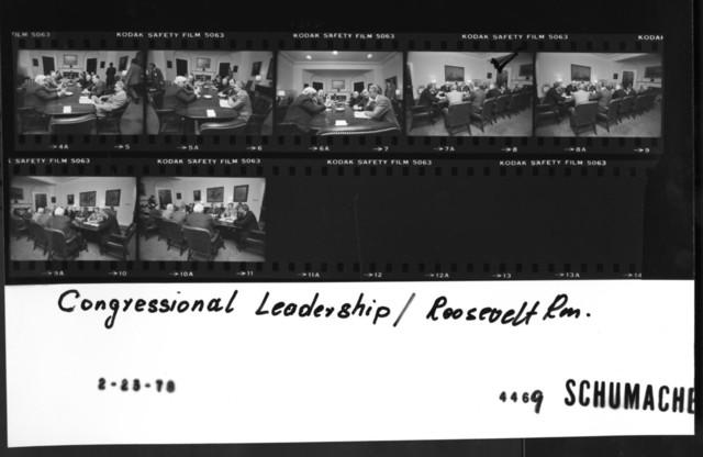 Congressional Leadership -- Roosevelt Room