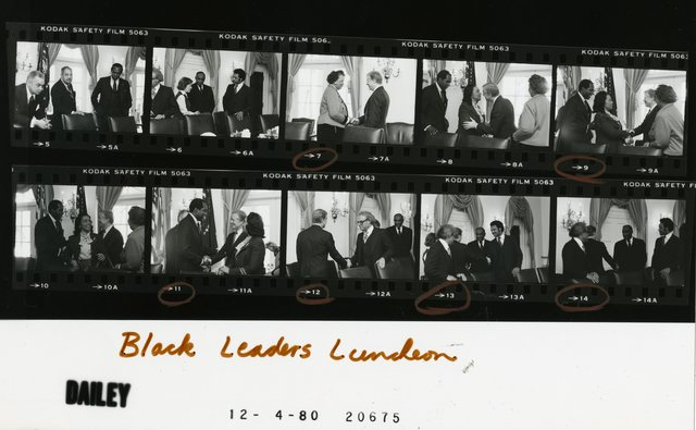 Jimmy  Carter and Rosalynn Carter - Luncheon with Black Leaders including  Jesse Jackson and Coretta Scott King