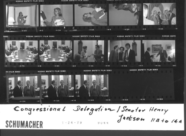 Jimmy Carter - Congressional Delegation; With Henry Jackson