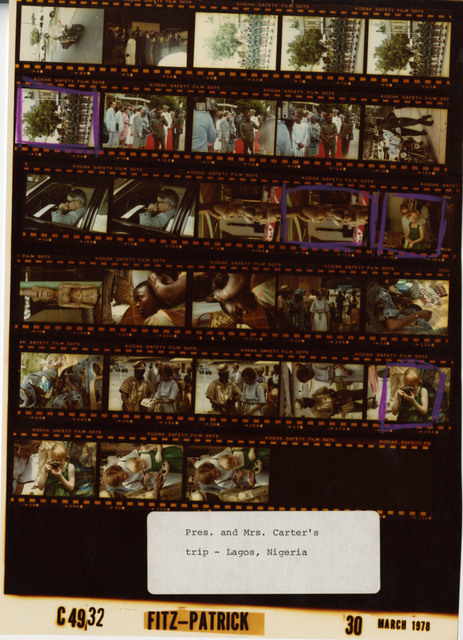 Jimmy Carter, Rosalynn Carter, Amy Carter - Lagos, Nigeria