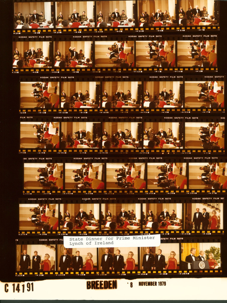 Jimmy Carter - State Dinner for Prime Minister John Lynch of Ireland with Leonard Bernstein conducting the U.S. Marine Band