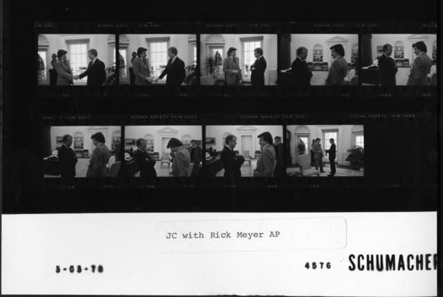 Jimmy Carter with Rick Meyer AP