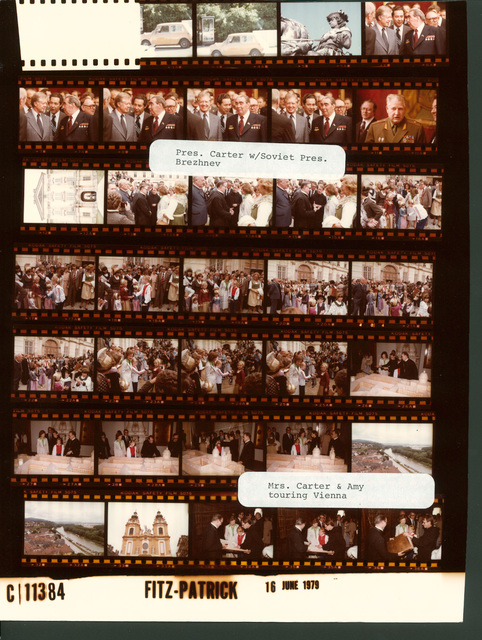 Jimmy Carter - With Soviet Union President Leonid Brezhnev, Fr. 6-11, Rosalynn Carter and Amy Carter - Touring Vienna, Austria, Fr. 12-36A