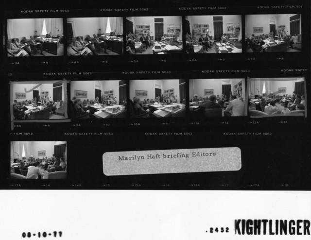 Marilyn Haft briefing Editors