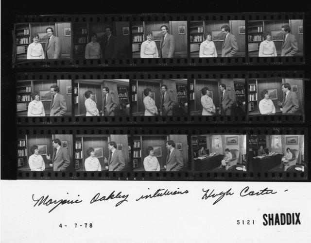 Marjorie Oakley interviews Hugh Carter