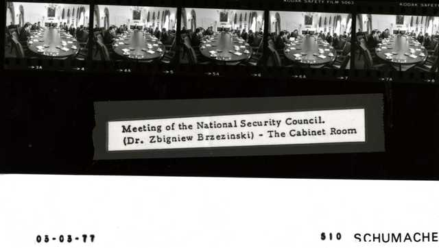 Meeting of the National Security Coucil. (Dr. Zbigniew Brzezinsi) -- The Cabinet Room.