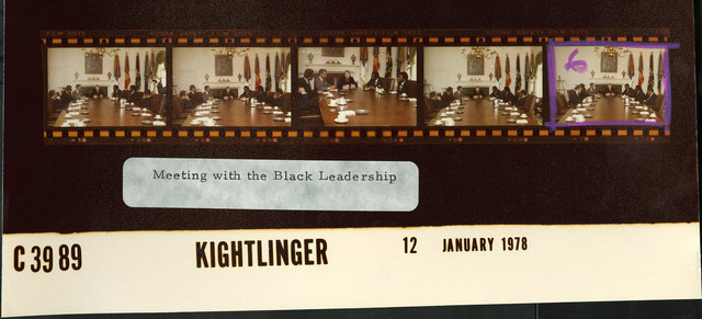 Meeting with the Black Leadership