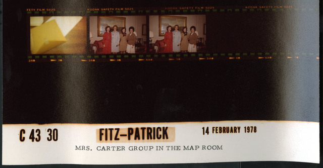 Mrs. Carter Group in the Map Room