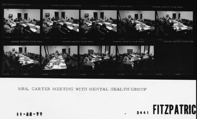 Mrs. Carter Meeting with Mental Health Group