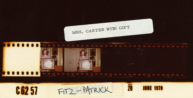 Mrs. Carter with Gift