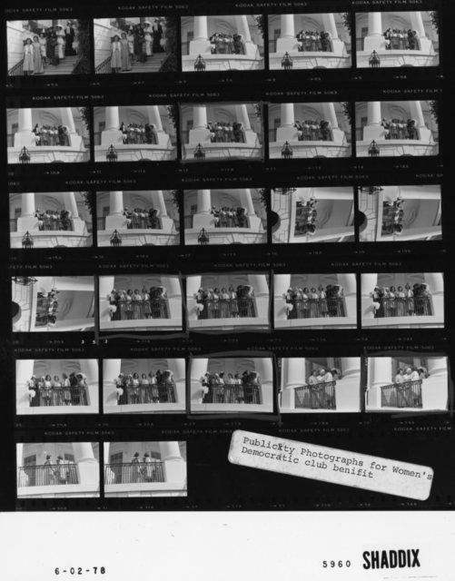 Publicity Photographs for Women's Democratic club benefit