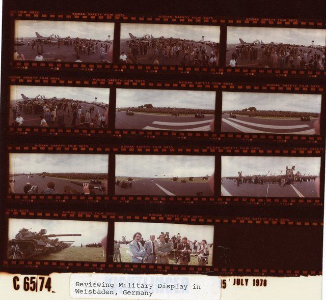 Reviewing Military Display in Weisbaden, Germany
