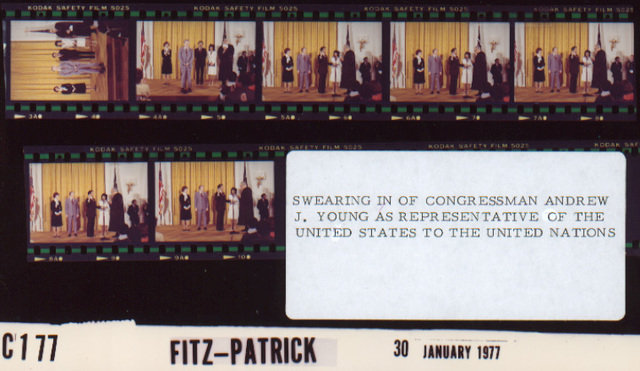 Swearing-In of Congressman Andrew J. Young as Representative of the United States to the United Nations
