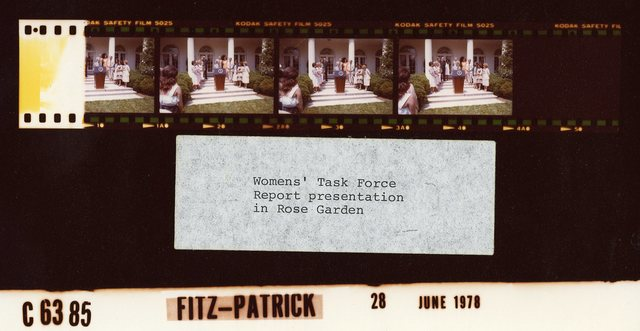 Women's Task Force Report Presentation in Rose Garden