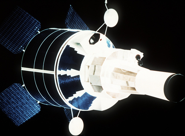 Artist's concept of the Defense Support Program Satellite in space