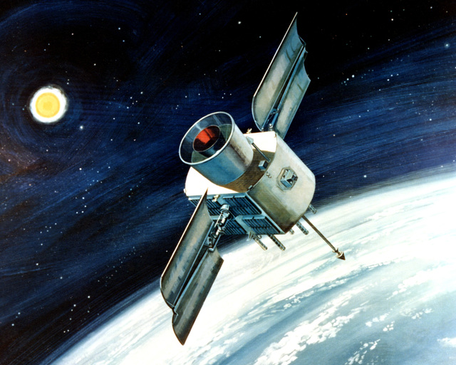 Artist's concept of the Global Positioning System Satellite (Navigation System Using Timing and Ranging Satellite)