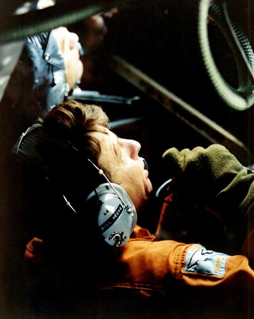 The boom operator aboard a KC-10A Extender aircraft