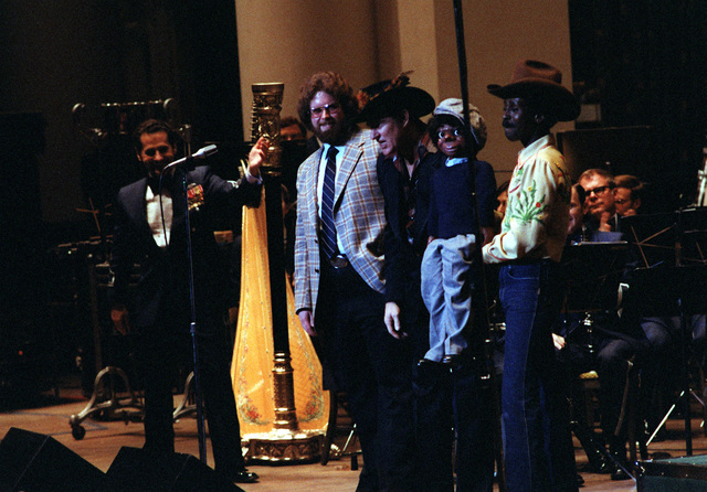Willie Tyler and Lester (right), and other guests make an appearance with the U.S. Air Force band during a concert at D.A.R. Constitution Hall