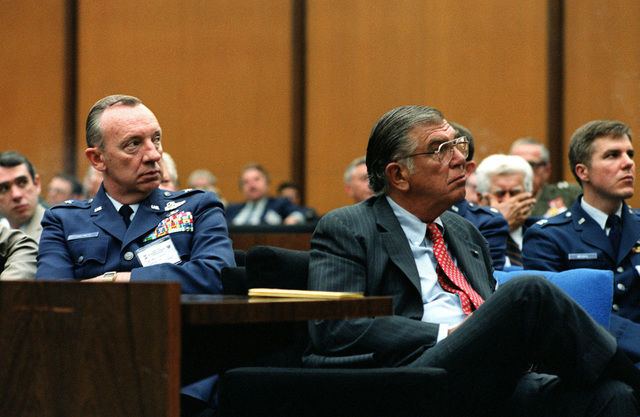 Members of the audience listen to one of the speakers during the National Mobility Conference at the State Department