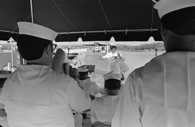 Members of the Commander in CHIEF Atlantic Fleet Band perform during the commissioning of the nuclear-powered attack submarine USS DALLAS (SSN 700)