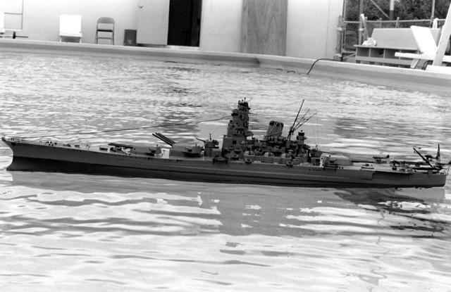 A replica of the Japanese battleship YAMOTO
