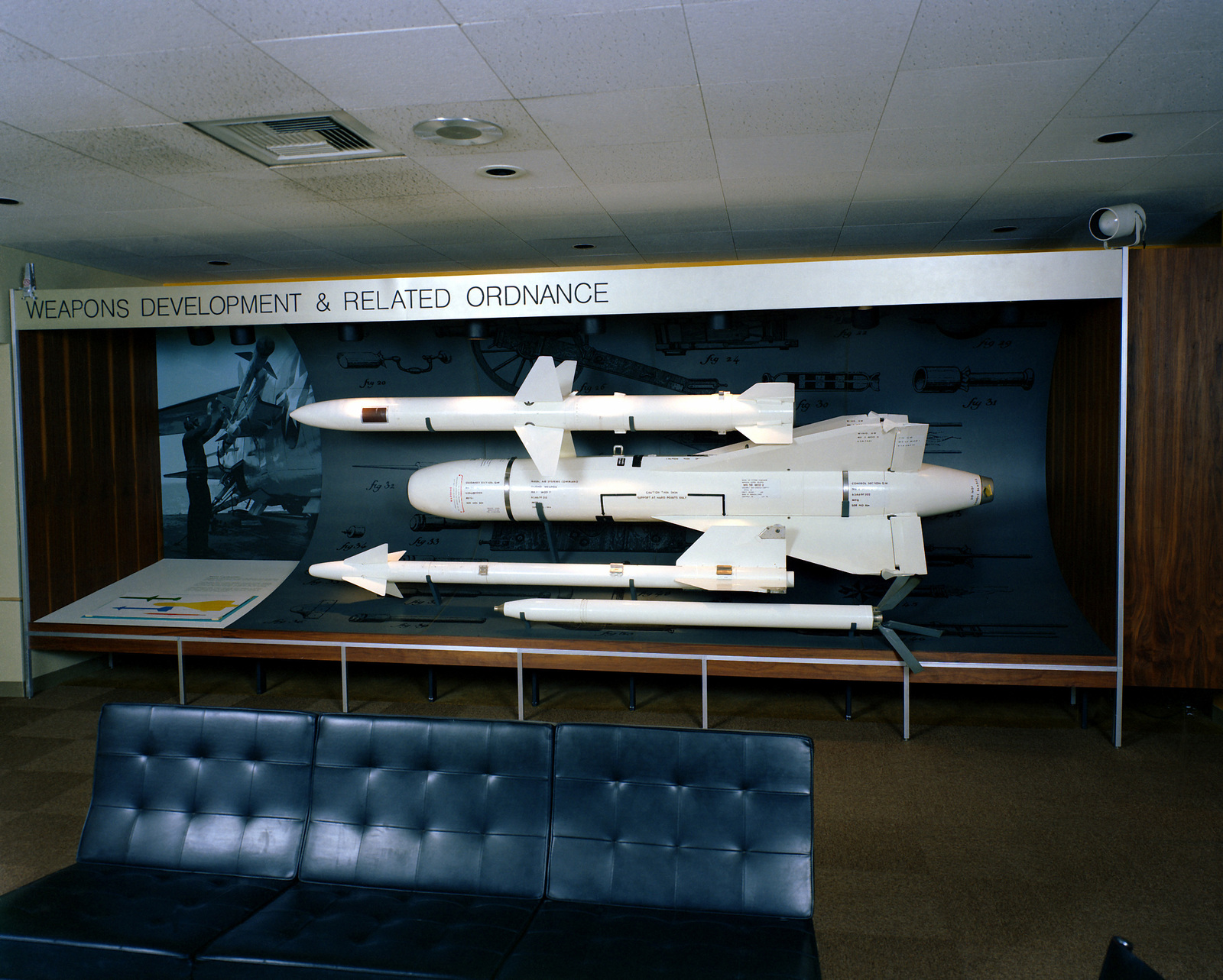 A View Of The Lobby Exhibit At The Michelson Laboratory The Weapons
