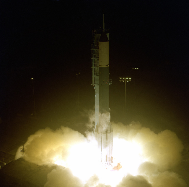 Launch of a Thor/Delta standard launch vehicle
