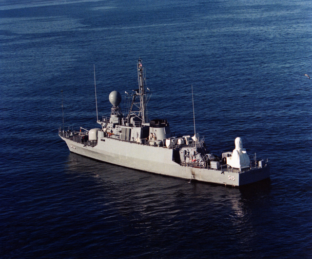 A port quarter view of the patrol gunboat ABDUL-AZIZ (PGG-515). The gunboat was build by Peterson Builders, Inc